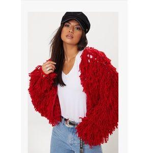 Shaggy Knit Cropped Cardigan